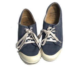 Dansko Vegan Veda Blue Canvas Lace-Up Shoes 39